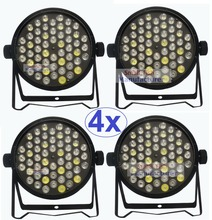 4pcs Good Quality Led Par Can Quad 54x3W Beam Wash Dmx Par Light American dj RGBW DJ Disco Led Flat Par Light Projector Led Lamp(China (Mainland))