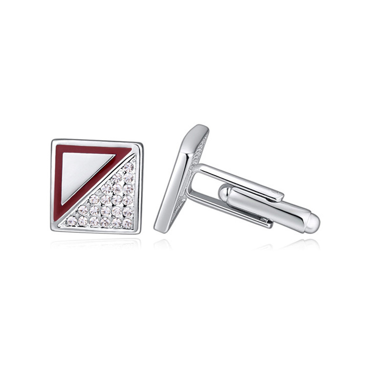 new arrival fashion accessories for men dubai gold plated austrian crystal brand cufflinks(China (Mainland))