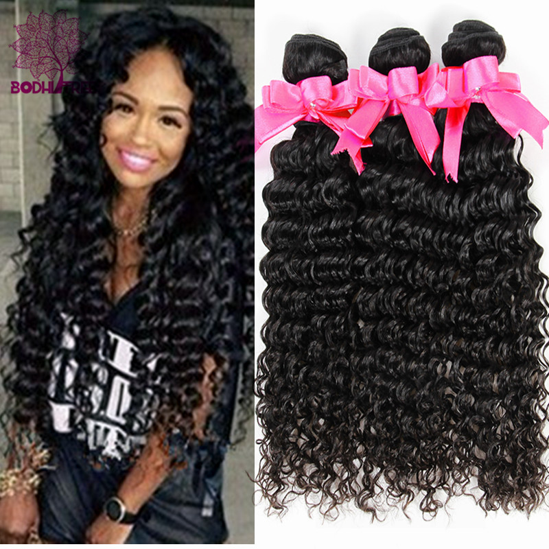 Hot Sale 7A Indian Virgin Hair Deep Wave 4 Bundle Indian Curly Virgin Hair Rosa Hair Products Virgin Indian Deep Curly Hair