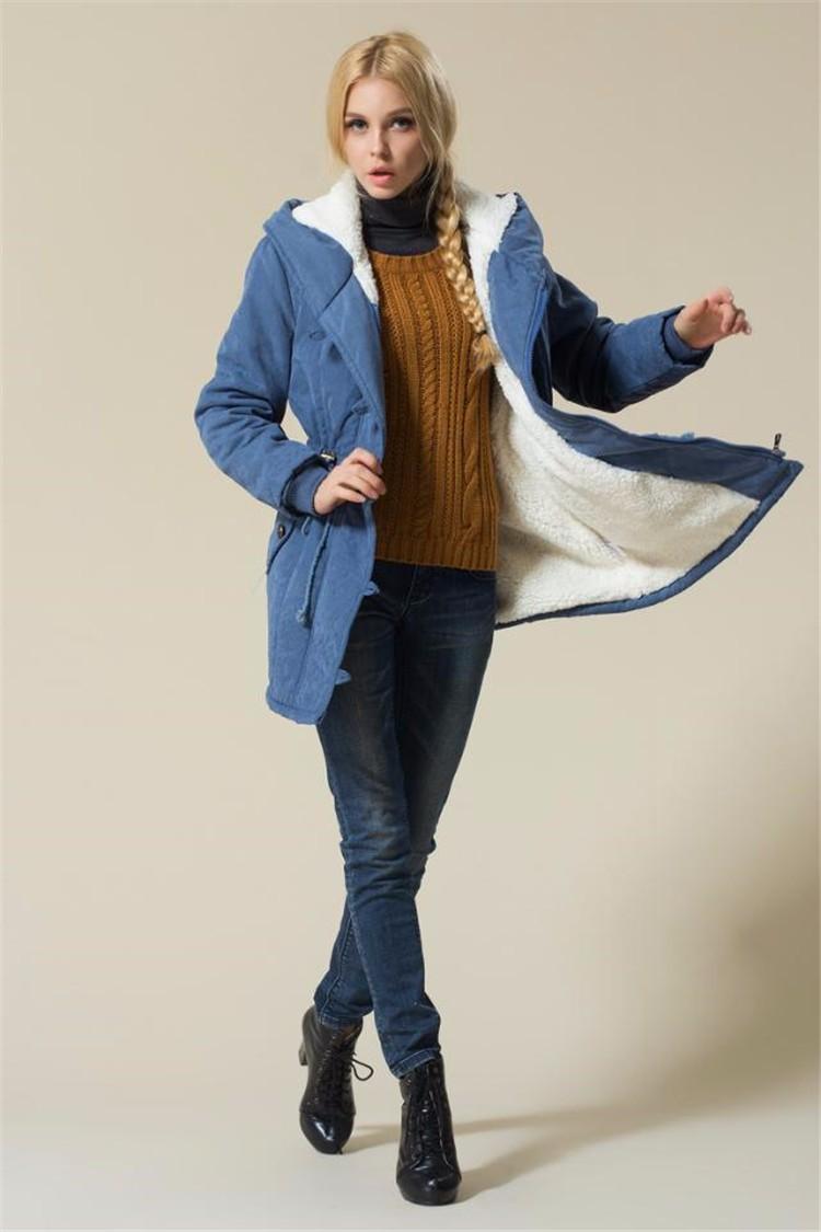 Winter Jacket Women 2016 Winter Womens Parka Casual Outwear Military Lamb Wool Hooded Coat Fur Coats Manteau Femme Woman Clothes