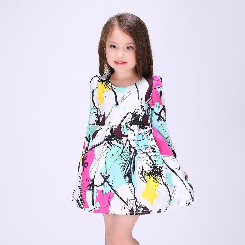 Girls Dresses Summer 2016 Teens Brand Princess Dress Children Clothing Print Girls Dress Kids Clothes Vetement Robe Fille Enfant<br><br>Aliexpress