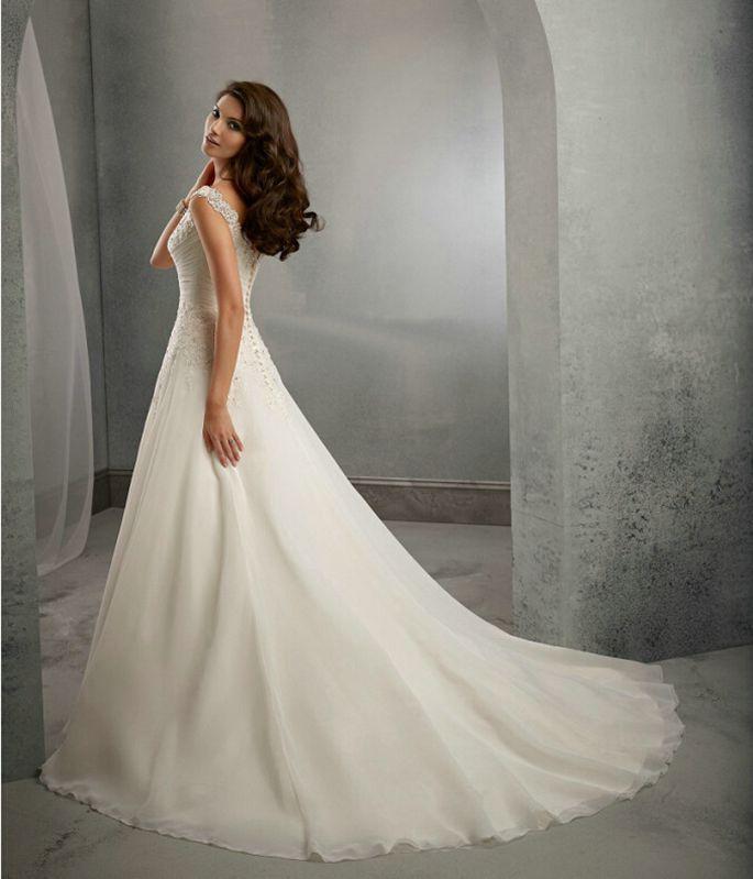 Vestido De Noiva Beach Wedding Dress Casamento A line Cap Sleeves Robe De Mariage Vintage Boho