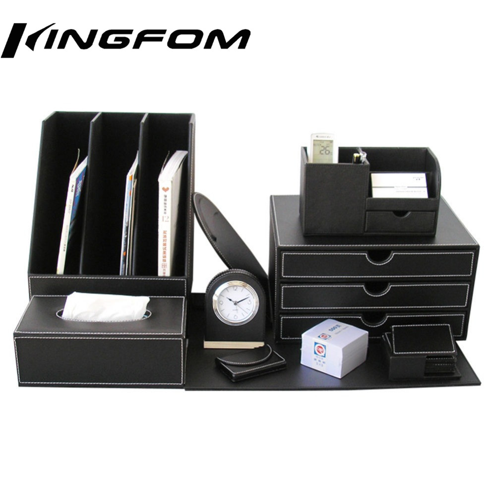 Здесь можно купить  Kingfom Luxury 10 pcs High Quality Business Office Supplies Stationery Desk Sets Leather Multifunction Storage Organizer Box Kingfom Luxury 10 pcs High Quality Business Office Supplies Stationery Desk Sets Leather Multifunction Storage Organizer Box Офисные и Школьные принадлежности