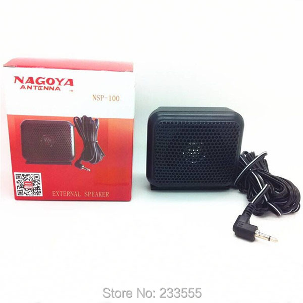 Nagoya NSP-100 External Speaker for Ham Radios ICOM Yaesu Kenwood walkie talkie New(China (Mainland))
