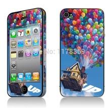 Travel around the world whole body mobile phone stickers for iphone 4 4S,for iphone 4 4s stickers on the phone free shipping(China (Mainland))