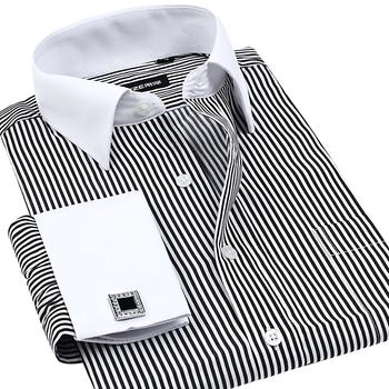 Vfan французский манжеты пуговица мужчины платье рубашки зима официальный марка нет ...