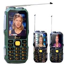 DBEIF D2016 Двойной фонарик FM волшебный голос 13800 мАч mp3/mp4 power bank антенна Аналогового ТВ Прочный мобильный сотовый телефон P242(China (Mainland))