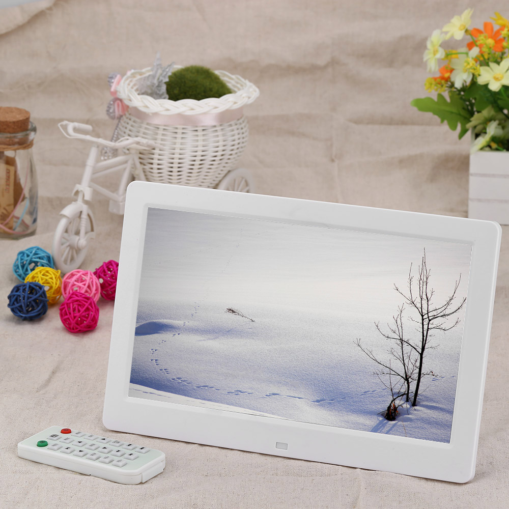 "Brand New 10.1"" High Resolution HD Wide Screen Digital Photo Picture Frame Alarm Clock MP3 MP4 Movie Player with Remote Control(China (Mainland))"