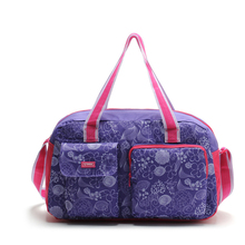 Hot Sale 2015 Women Cheap Oxford Cloth Big Luggage Travel Duffle Bag Fashion Folding Messenger Sport Bag(China (Mainland))