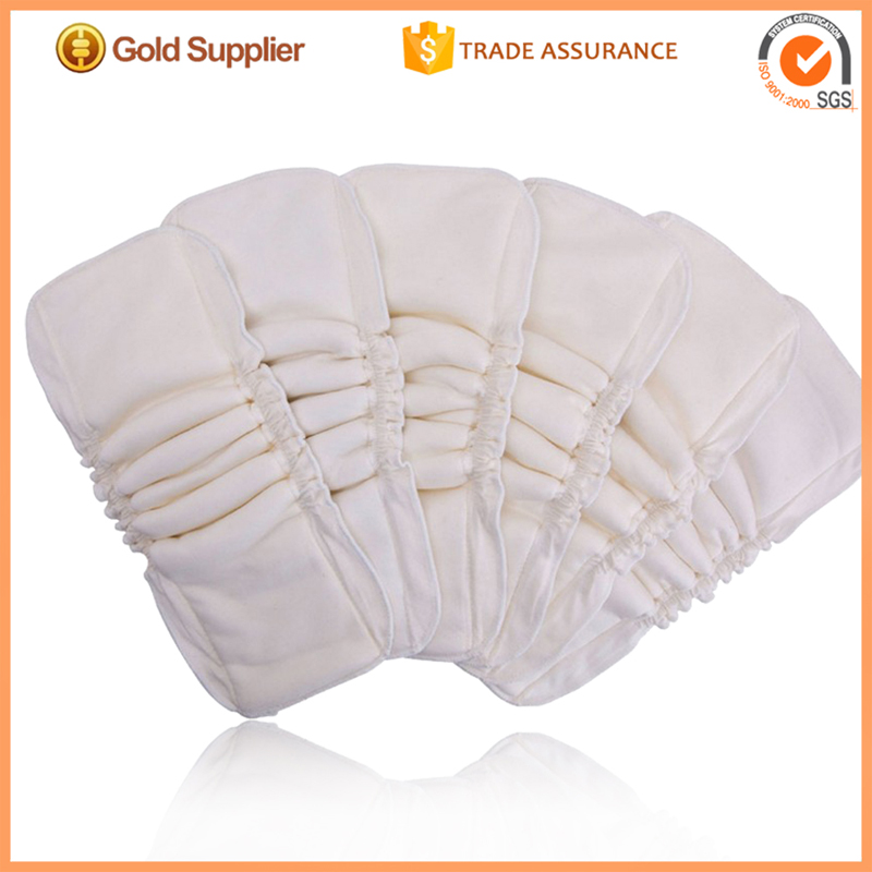 Waterproof PUL backed Double leak gussets Cotton Bamboo Diaper Inserts(China (Mainland))