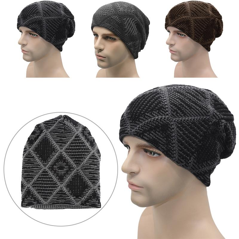 2016 Hot Spring Men Unisex Knitted Winter Cap Casual Beanies Patchwork Hip-hop Snap Slouch Skullies Bonnet beanie Hat Gorro W5