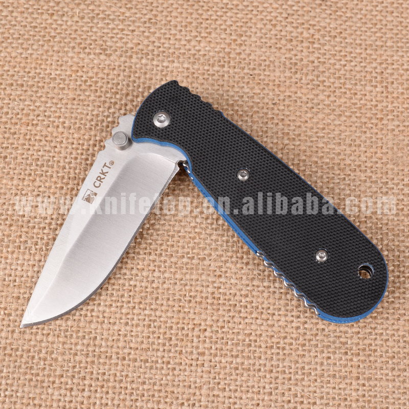 Huiwill hot folding blade knife stainless steel 8cr13mov with G10 58HRC handle outdoor camping survival knfie free shipping(China (Mainland))