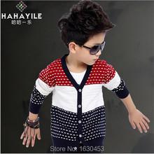 2015 Real Sweatshirt Moleton Free Shipping Boys Knitted Sleeve Sweater Coat, Children Sweater, Baby Clothing, Kids Outerwear(China (Mainland))