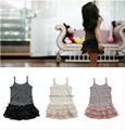2016 Baby girl kids ruffle lace tank top tops vest singlet strap shirt dress pettiskirt tutu