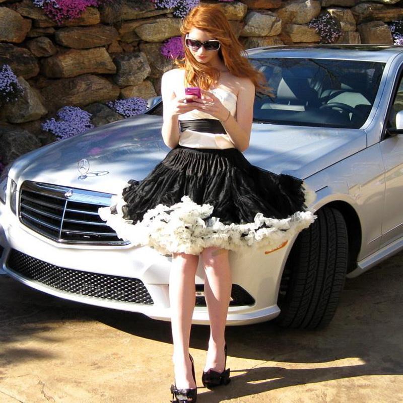 Pageant Hot Petticoat Party Rock Dancing Full Tulle Tutu Mini Skirt Rockabilly Short Dress White Black For Women Adult Girls(China (Mainland))