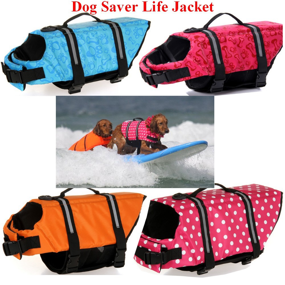Pet Dog Life Jacket Safety Clothes Life Vest Outward Saver Pet Dog Swimming Preserver Large Dog Clothes Summer Swimwear(China (Mainland))