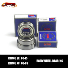 NSK Rear Wheel Hub Bearing Set KTM KTM65 SX 00-15 XC 08-09  Motocross Enduro Supermoto Dirt Bike(China (Mainland))