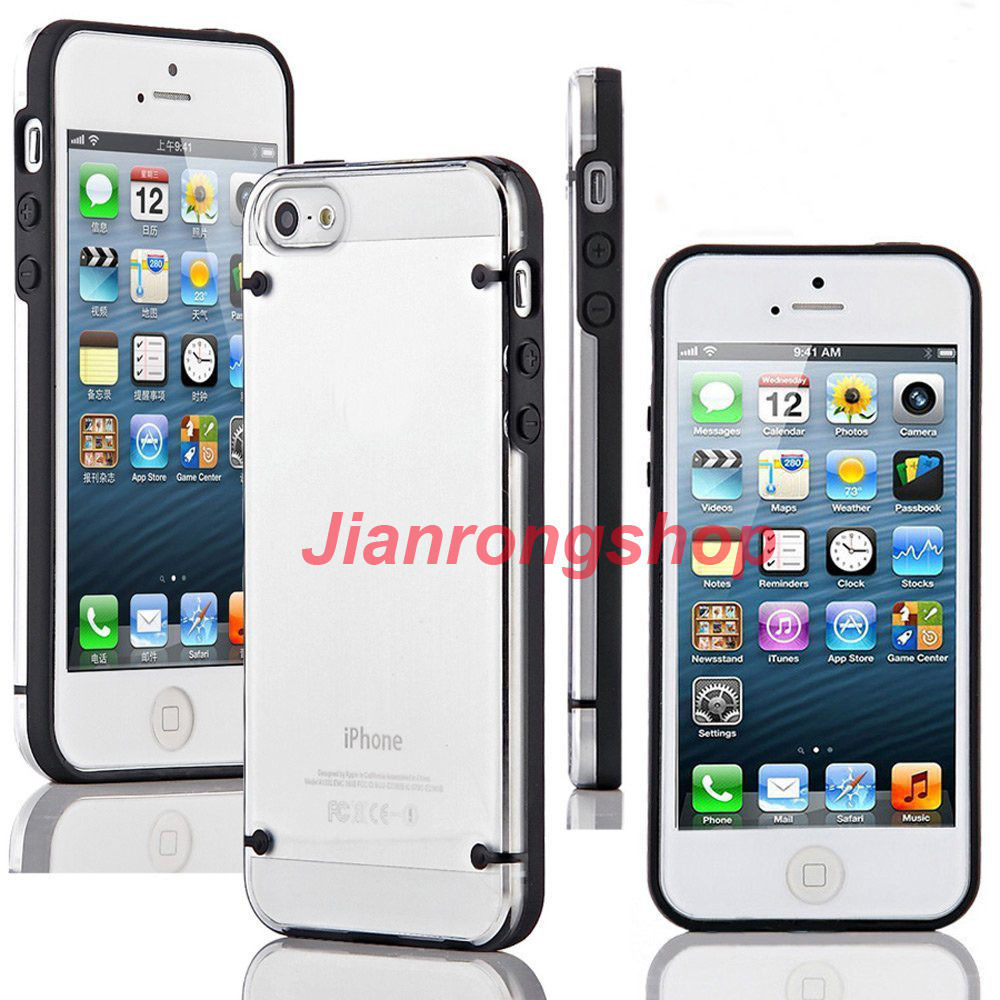 Transparent Crystal Clear Hard TPU Case Cover For Apple iPhone 5 / 5S Free Shipping(China (Mainland))