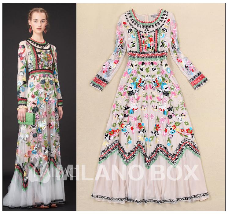 Vestido largo etnico aliexpress