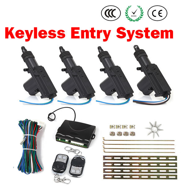 Universal Car Auto Kit Remote Central Alarm Security 4 Door Bracket Lock Locking Power Keyless Entry System 203(China (Mainland))