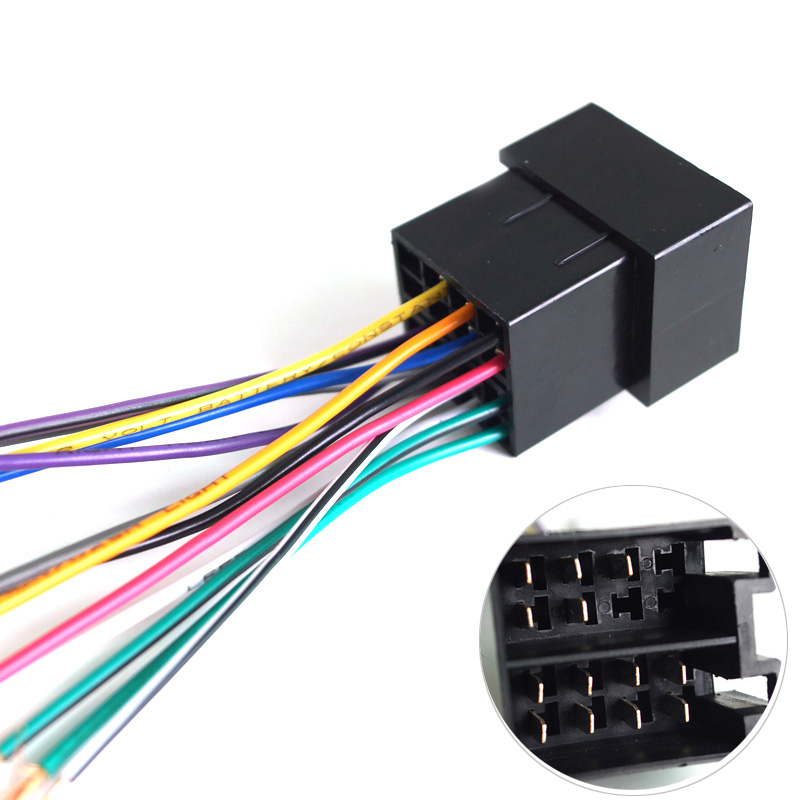 5pcs Universal Female ISO Radio Wire Wiring Harness Adapter Connector Car Adaptor Plug For Volkswagen/Citroen/Audi #GZX1770(China (Mainland))
