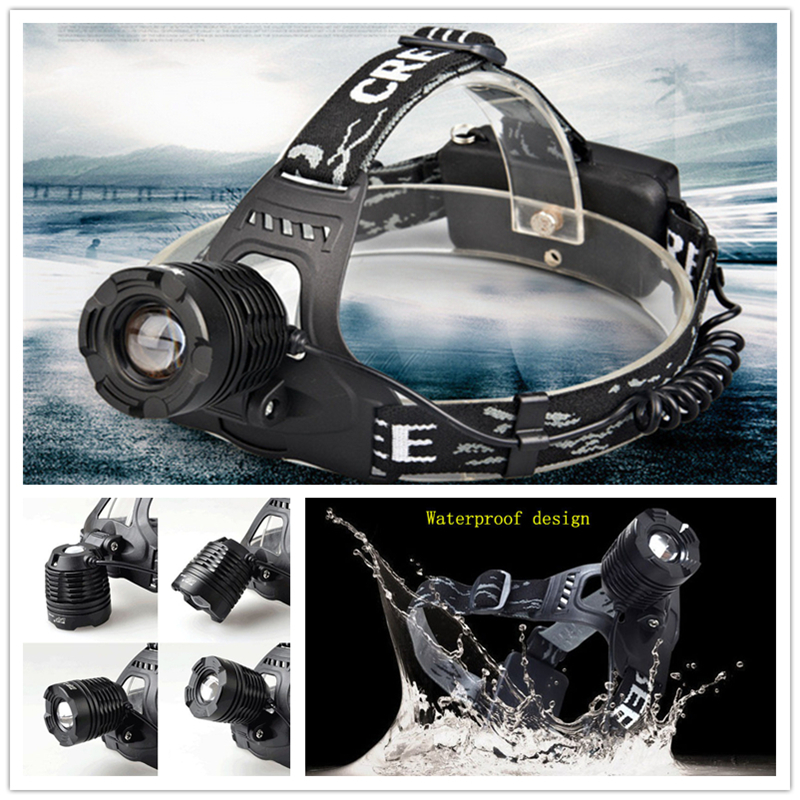 Waterproof  2000lm CREE XM-L T6 3 Mode LED Headlamp Rechargeable 18650 Headlight Camping Hiking Torch Flashlight<br><br>Aliexpress