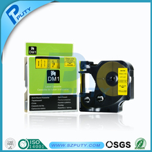 Buy DYMO Compatible D1 label tape 12mm black yellow cassette dymo tape D1 45018 DYMO label maker for $45.00 in AliExpress store