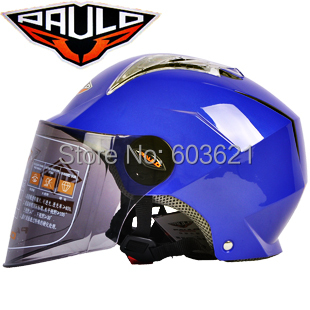 2014 Quality fashion new arrival paulo S-120 half face motorcycle electric bicycle helmet anti-uv rainfalls blue and red color(China (Mainland))