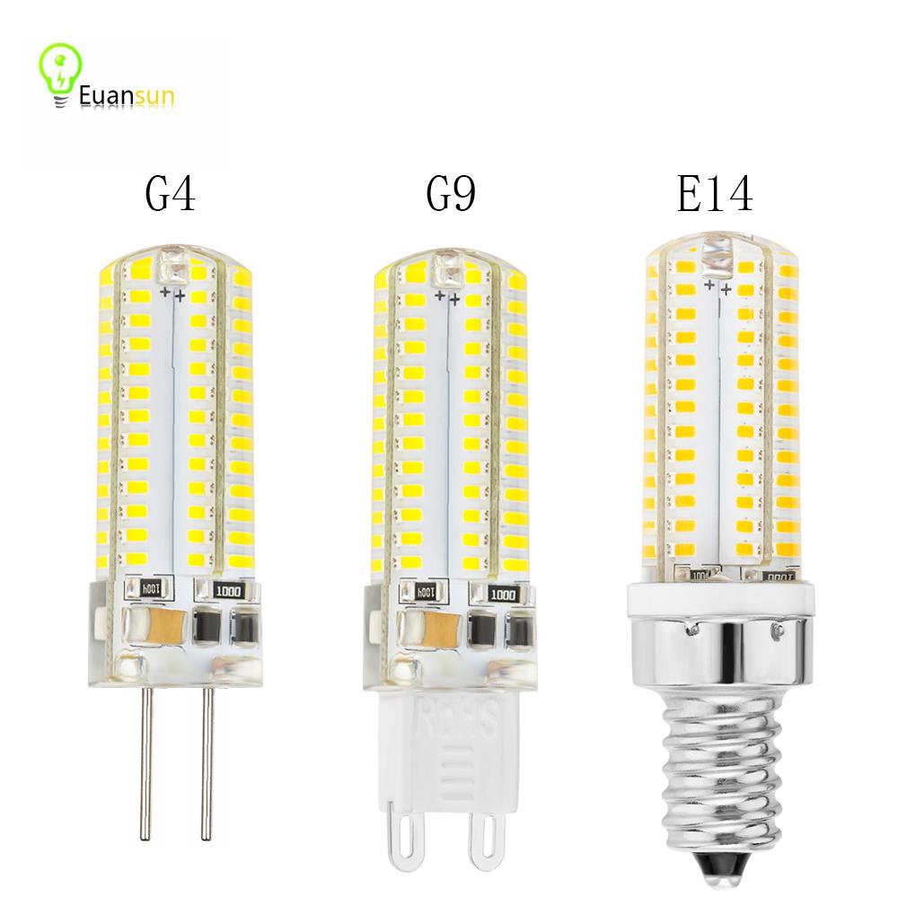 2016 Led g4 g9 E14 AC 220V Led bulb Lamp SMD3014 6W 9W 10W Replace 20w 40w halogen lamp light 360 Beam Angle lampada led(China (Mainland))
