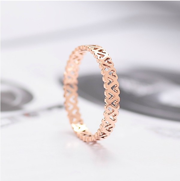 2014 new fashion boutique selling trend hollow titanium steel rose gold female tail ring jewelry - Chinese Jewelry Factory, From Yiwu China store