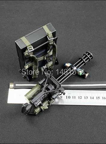 HOT 1/6 Special forces equipment Gatling Gears delicate Military model 1:6 soldier action figure Plastic toy Can't launch(China (Mainland))