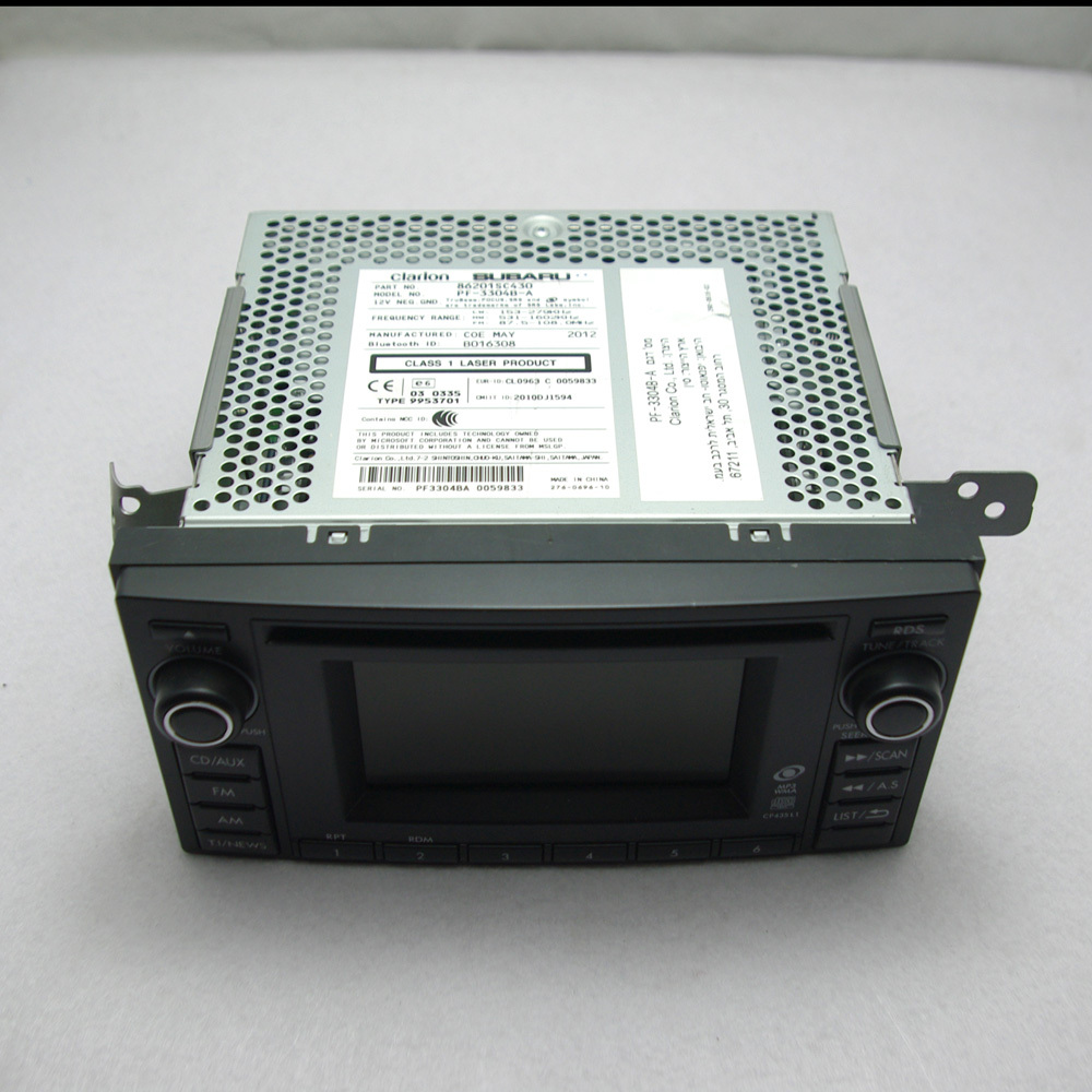 Free Ship Original Subaru Forester 2012 2013 Car Radio CD Player Stereo MP3 Bluetooth AUX USB