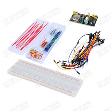 Buy Free shipping! MB102 830 Points Solderless Breadboard + Power Supply Module + 140PCSJumper Wires Arduino DIY Starter Kit for $12.35 in AliExpress store