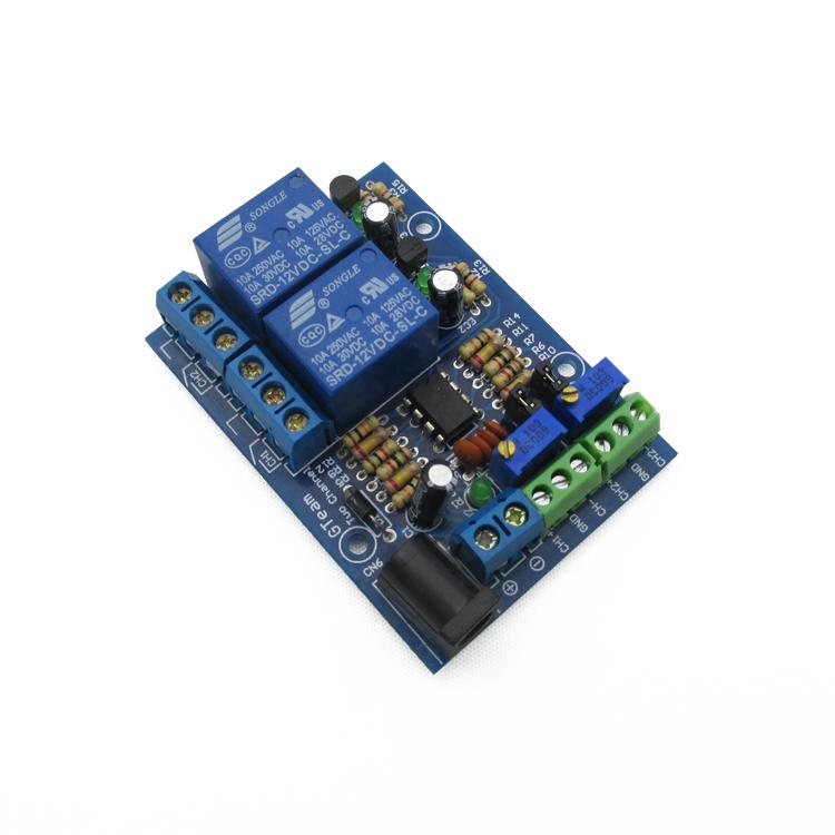 2-way voltage comparator module 2 channels voltage comparator voltage comparator IC LM393 12V DC12V(China (Mainland))