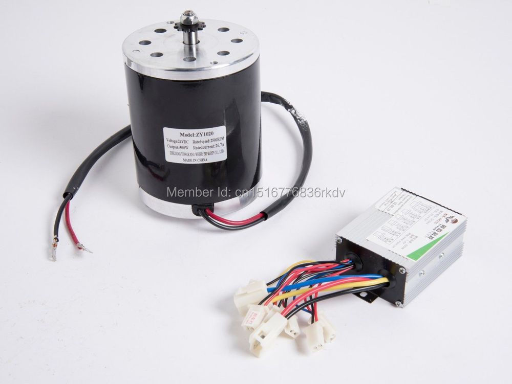 500W 48V electric motor MY1020 + speed controller for electric scooter gokart  6mm Chain<br><br>Aliexpress