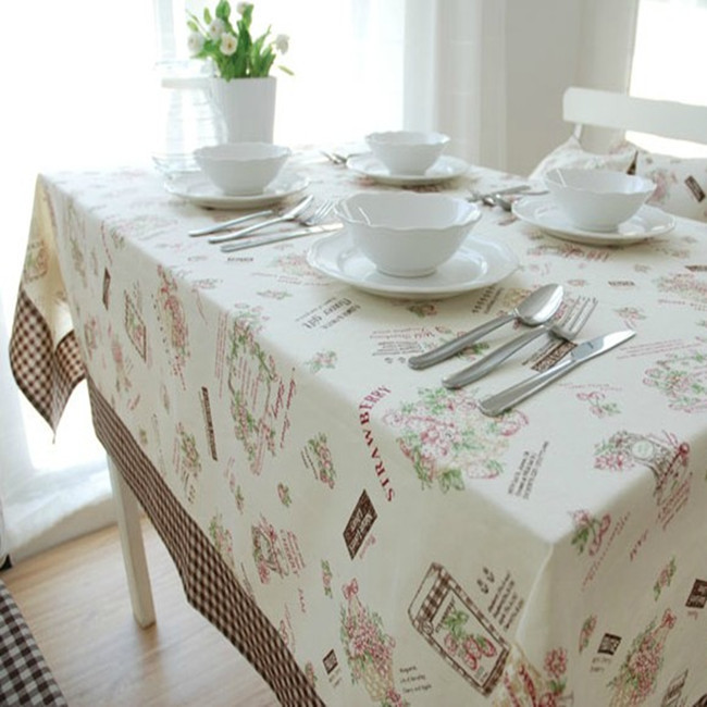 Floweryness fluid fabric table cloth gremial customize coffee table multi-purpose linen dust cloth table linen tablecloth(China (Mainland))