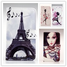 Top Selling Flip Painting PU Leather Wallet Style With Card Holder Protection Cover Skin Case For Elephone P6000 Pro