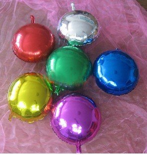 Free shipping Circular monochrome aluminum  foil balloons wedding party adornment things balloon floating empty 50pcs/lot