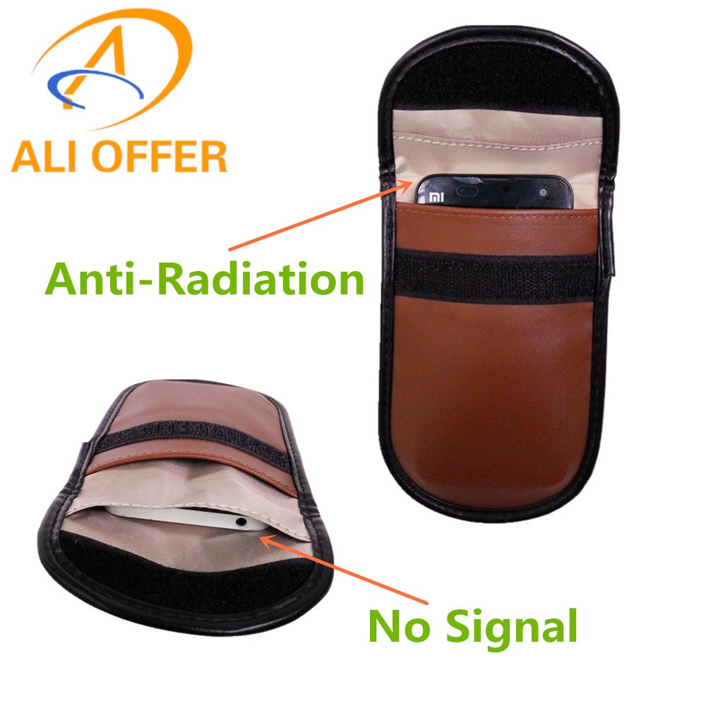Mobile Cellular Phone Wireless Signal Shield Blocker Jammer Bag,Anti-Radiation Pouch Case Avoid Magnetism Lost Information Leak(China (Mainland))
