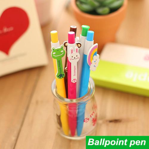 60 pcs/Lot Cute ballpoint pens Kawaii Stationery ballpen Wholesale bulk caneta Novelty Office accessories school supplies 6207(China (Mainland))