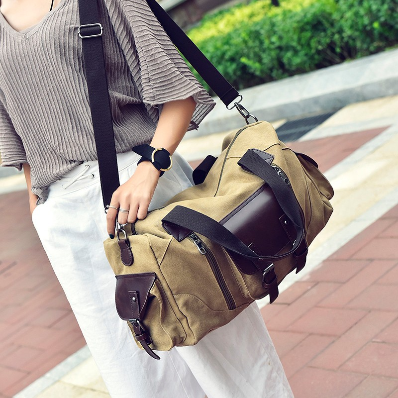 Famous Brand Men Vintage Canvas Men Travel Bags Women Weekend Carry On Luggage & Bags Leisure Duffle Bag Large Capacity Handbags