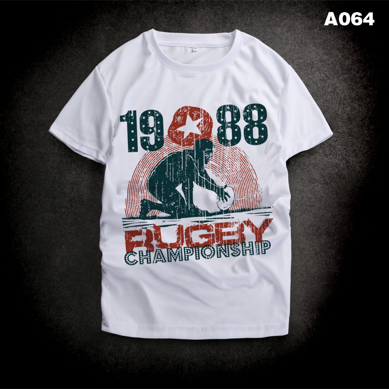 Brand clothing short sleeve Print mens tshirts fashion 2016 Summer running quick dry championship rugby sports t-shirts men(China (Mainland))