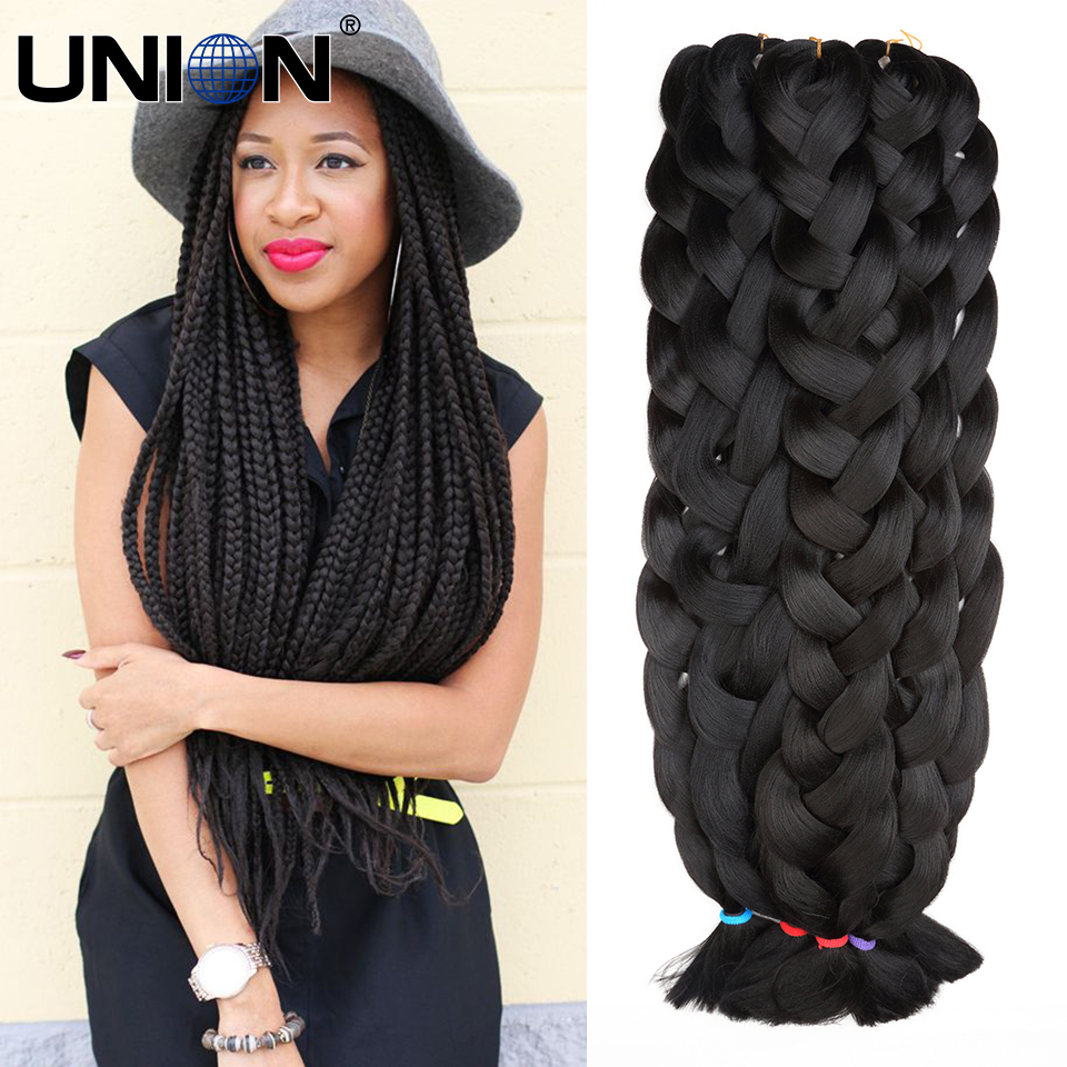 african braiding kanekalon hair jumbo braid synthetic expression hair extensions jumbo crochet ...