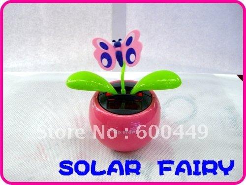 Free Shipping solar Swing Solar Flower Flip Flap Solar Powered butterfly 1piece/lot