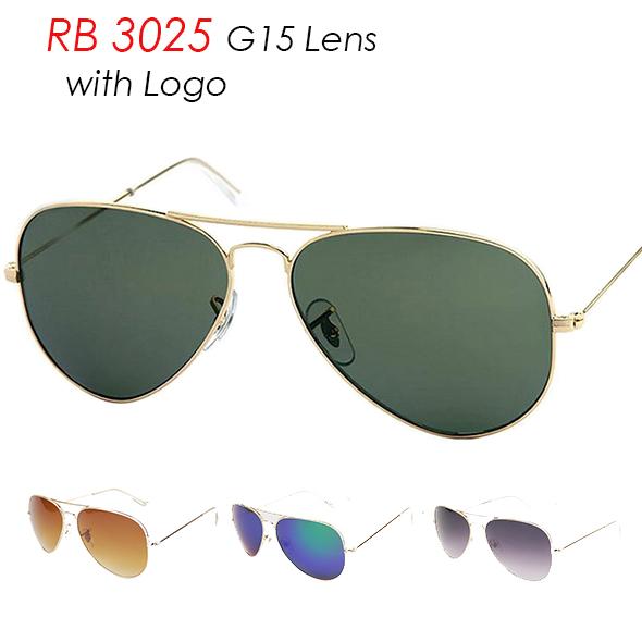 Logo RB 3025 Sunglasses Classic Vintage Brand Women Men G15 Lenses Sun Glasses Ray UV400 Mirror Aviator Sunglasses Original Logo(China (Mainland))