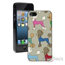 Colorful Poodles Protector back skins mobile cellphone cases for iphone 4/4s 5/5s 5c SE 6/6s plus ipod touch 4/5/6