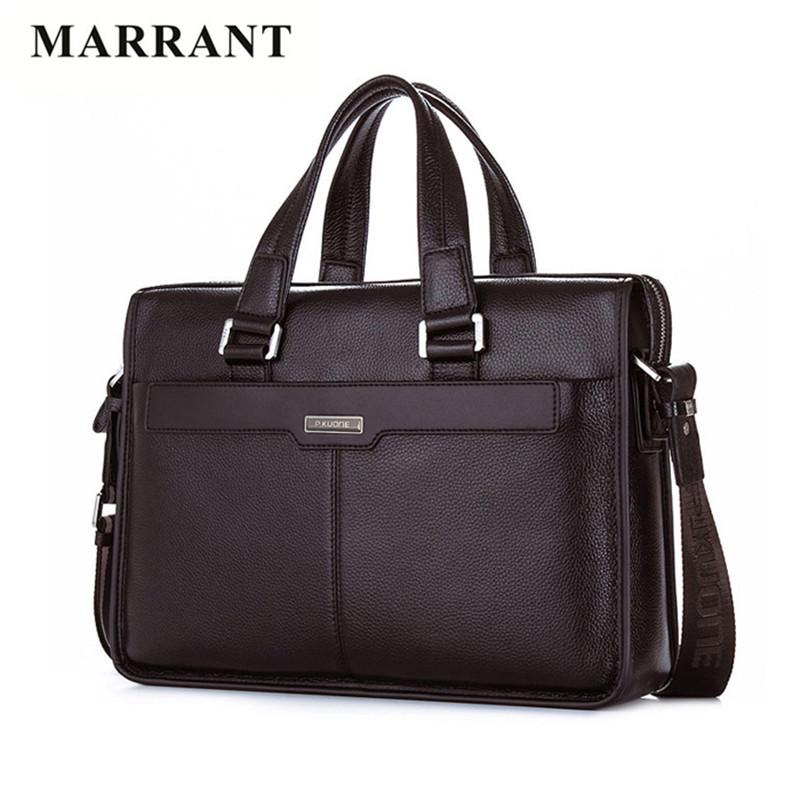 MARRANT Genuine Leather bussiness men briefcase Designer handbags high quality laptop bag shoulder bag luxurious messenger bag(China (Mainland))