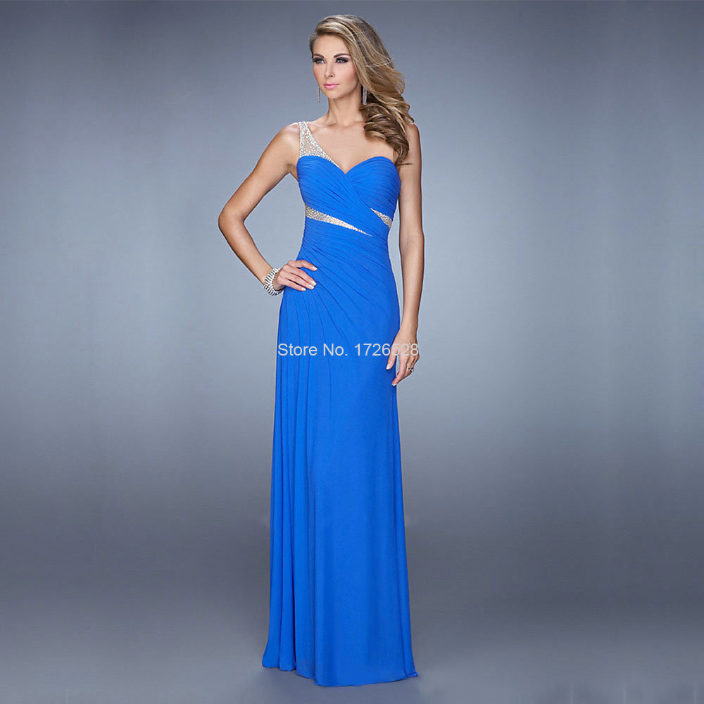 Long formal evening dresses 2015 women elegant blue for Long elegant dresses for weddings