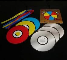 Caliente venta que cambia de Color CD 7 unids papel de papel CD trucos de magia magia juguetes