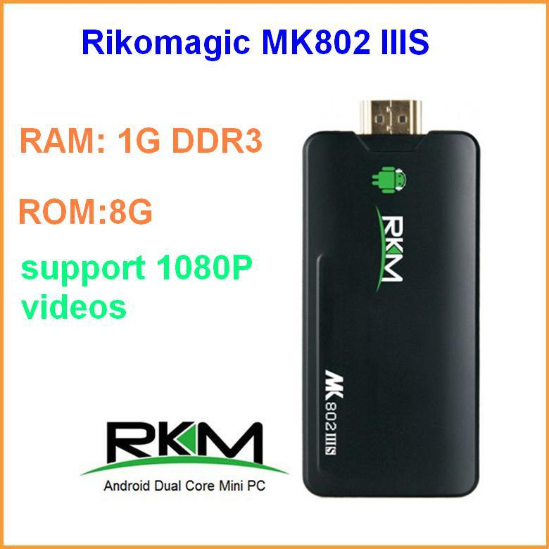 Rikomagic MK802 IIIS Android TV Box Bluetooth Mobile Remote Control Dual Core RK3066 Cortex A9 1GB/8G HDMI Wifi Mini PC(China (Mainland))